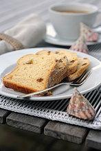 Sand Kuchen auf Platte