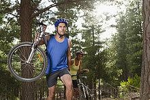 Berg ,tragen ,Wald ,Fahrrad, Rad