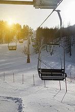 Landschaft ,über ,Schnee ,Ski ,Skilift