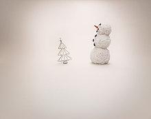 Weihnachtsdekoration-Schneemann, Studioaufnahme