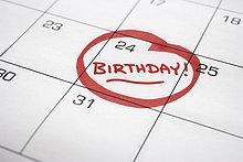 drehen ,Geburtstag ,Kalender