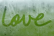 schreiben ,Liebe ,Fenster ,Nebel
