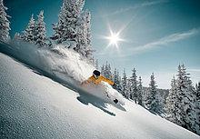 Snowboardfahrer ,Gesichtspuder