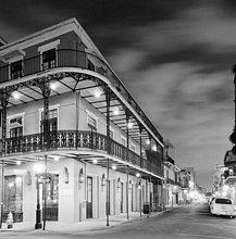 französisch,Wohnhaus,weiß,schwarz,neu,Orleans,Viertel Menge