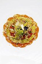 Käse,Tomate,Lauch,Artischocke,Cynara scolymus,Gratin,Ziegenkäse