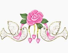 Liebesherz, Liebesherzen, herz, Herzen, herzförmig, herzförmiges ,Blume ,halten ,Band, Bänder ,2 ,Wildtaube