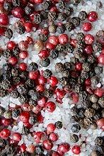 Pfefferkörner und Salz, close-up