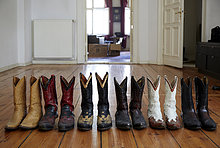 Stiefel,Holzboden,Cowboy
