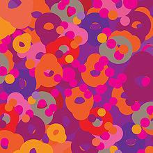 Abstraktes Hintergrundmuster aus psychedelischen Punkten und Kreisen