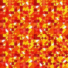 Abstraktes Hintergrundmuster aus roten und orangenen geometrischen Formen