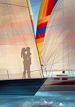 küssen ,Schatten ,Illustration ,Yacht