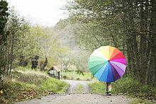 Regenschirm,Schirm,bunt,Mädchen