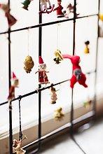 Fenster,hängen,Weihnachten,Dekoration