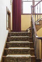 Wohnhaus,Ländliches Motiv,ländliche Motive,Treppenhaus,bedecken,Geländer,Treppengeländer