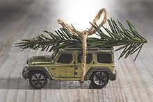 Dach,Auto,Spielzeug,Geländewagen,Weihnachtsbaum,Tannenbaum