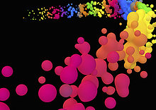 Abstraktes Muster bunter neonfarbener Kleckse