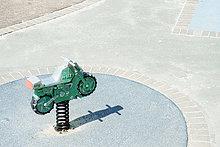 hoch,oben,Spielzeug,Spielplatz,Ansicht,Flachwinkelansicht,Motorrad,Winkel