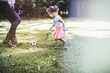 Garten,Ball Spielzeug,Mädchen,Baby,spielen