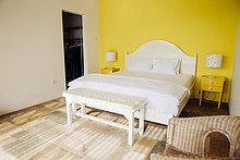 Wand,Urlaub,gelb,Schlafzimmer,Schrank,Bettseite,Indonesien,Villa