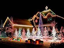 Vereinigte Staaten von Amerika,USA,Wohnhaus,Nacht,Beleuchtung,Licht,Weihnachten,Dekoration,American Fork,Utah,Utah