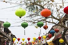 Papier,Dekoration,Laterne - Beleuchtungskörper,Zimmer,Fußgänger,Hoi An,Vietnam