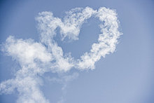 Wolke,Himmel,blau,herzförmig,Herz