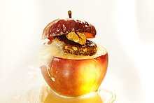 Bratapfel mit Baileys