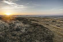 Sonnenuntergang, Königshafen, Sylt, Schleswig-Holstein, Deutschland, Europa