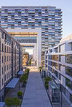 Deutschland, Köln, Blick auf Kranhäuser