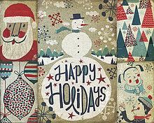 Montage altmodischer Weihnachtskarten