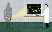 Patient sendet EKG über eine Smartphone-App zu seinem Arzt