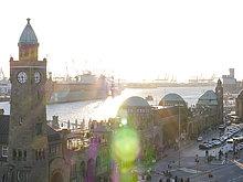 Pegelturm, St. Pauli, Hamburg, Deutschland, Europa
