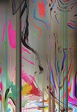 Abstraktes Hintergrundmuster mit verzerrten verschmelzenden Farben